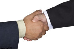 Handshake between two men Stock Images