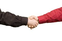 Handshake between two men Stock Image