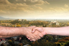 Handshake of two men Royalty Free Stock Images