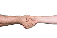 Handshake of two men Stock Photo