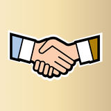 Handshake two people business concept Stock Images