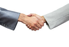 Handshake. Two people shaking hands Royalty Free Stock Photography