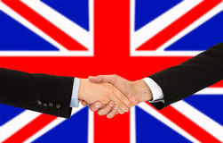 Handshake in UK Royalty Free Stock Image