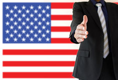 Handshake in USA Stock Image