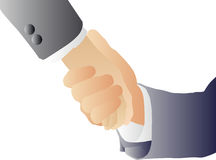 Handshake (vector) Royalty Free Stock Images