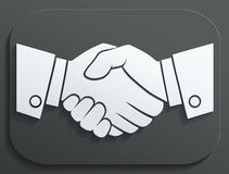 Handshake vector icon - business concept on white background. Stock Images