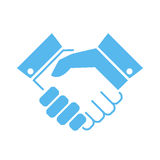 Handshake vector icon Royalty Free Stock Images