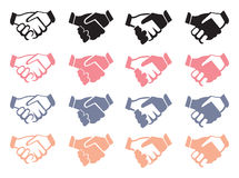 Handshake Vector Icon Set Stock Photo