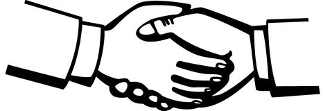 Handshake vector illustration Stock Photos