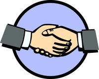 Handshake vector illustration Stock Photo