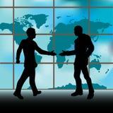 Handshake Window Stock Photos