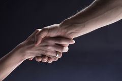 Handshake, woman and man hands Royalty Free Stock Photos