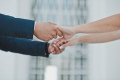 Handshake of the woman and man 2365. Stock Photos