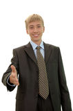 Handshake of young businessman Royalty Free Stock Images
