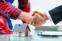 Handshakes after contract signature Stock Photography