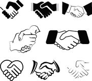 Handshakes royalty free illustration