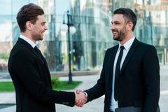 Handshaking людей Стоковое Изображение