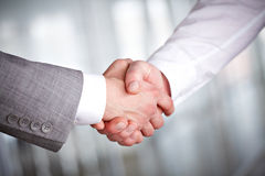 handshaking fotografia stock