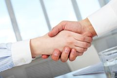Handshaking Stock Photography