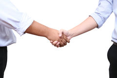 Handshaking. Image of two businessman shaking hand in office royalty free stock images