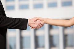 handshaking Arkivbild