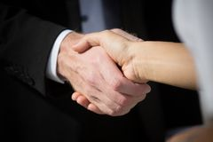 handshaking Fotografia Stock Libera da Diritti