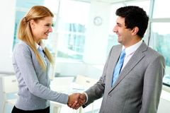 Handshaking associates Stock Image