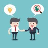 handshaking assumere reclutamento Immagine Stock