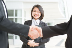 Handshaking Royalty Free Stock Photos