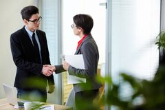 Business acceptance Stock Photography