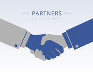 Handshaking illustration Royalty Free Stock Image