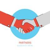 Handshaking illustration Stock Photo