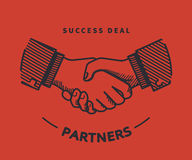 Handshaking illustration Stock Photos