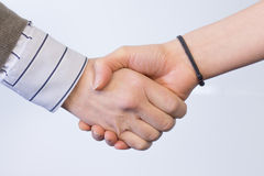 Handshaking. Image of handshaking of business partners royalty free stock image