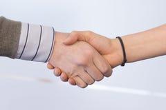 Handshaking. Image of handshaking of business partners stock image