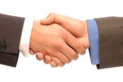 handshaking isolerade arkivfoto