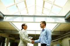 Handshaking after negotiation Royalty Free Stock Photography