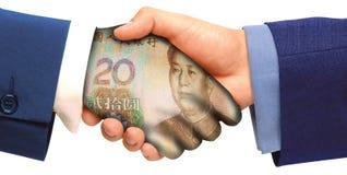 handshaking odizolowywający obraz royalty free