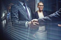 Handshaking with partner Stock Photos