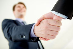 Handshaking of partners Royalty Free Stock Photo