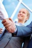 Handshaking partners Stock Photos