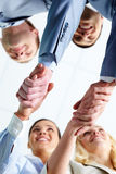 Handshaking partners Stock Images