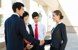 Handshaking partners Royalty Free Stock Images