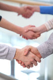 Handshaking partners. Stock Photography