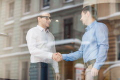 Handshaking professionals Royalty Free Stock Photography
