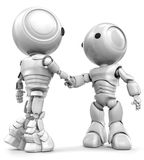 Handshaking Robots Stock Photos