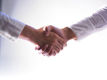Handshaking - Team Work Royalty Free Stock Photo
