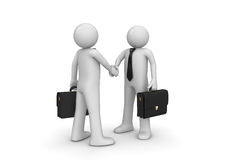 Handshaking two businessmen Stock Photography