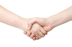 Handshaking of two persons Royalty Free Stock Photos