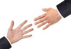 Handshakings isolated on white Conceptual photo Royalty Free Stock Photos